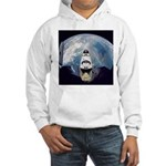 Earth and the space shuttle Hooded Sweatshirt