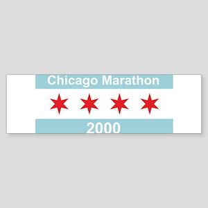 2000 Chicago Marathon Sticker (Bumper)