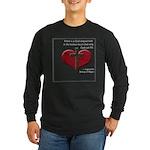 God Shaped Hole Long Sleeve Dark T-Shirt