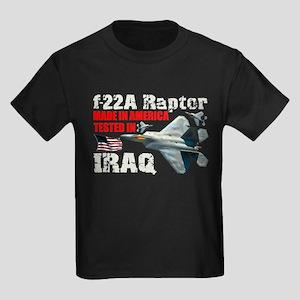 f-22A Raptor Made In America Kids Dark T-Shirt