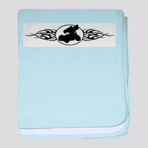 Sprint Car Flames Infant Blanket
