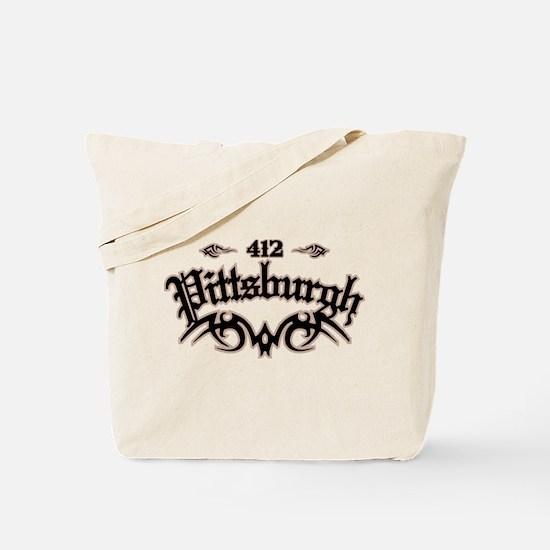Pittsburgh 412 Tote Bag