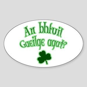 Speak Irish? Oval Sticker