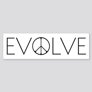 Evolve Peace Narrow Sticker (Bumper)