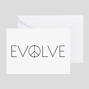 Evolve Peace Narrow Greeting Card