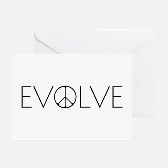 Evolve Peace Narrow Greeting Card