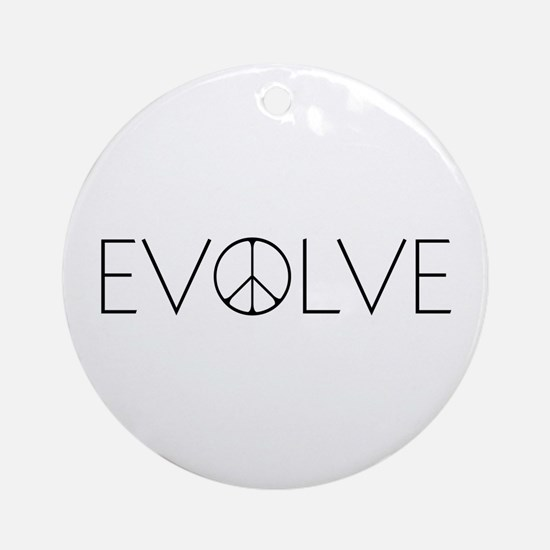 Evolve Peace Narrow Ornament (Round)