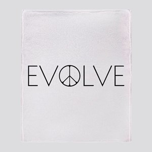 Evolve Peace Narrow Throw Blanket