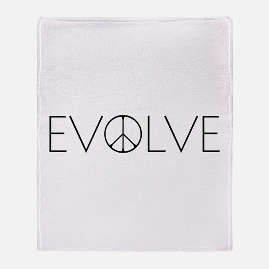 Evolve Peace Narrow Throw Blanket