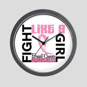 Licensed Fight Like a Girl 3.3 Wall Clock
