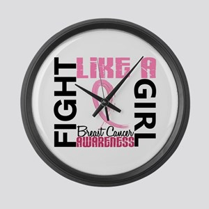 Licensed Fight Like a Girl 3.3 Large Wall Clock