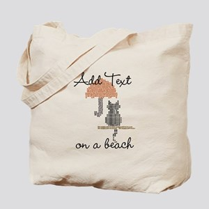 Add Text On a Beach Funny Tote Bag