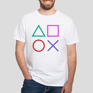 Shapes White T-Shirt