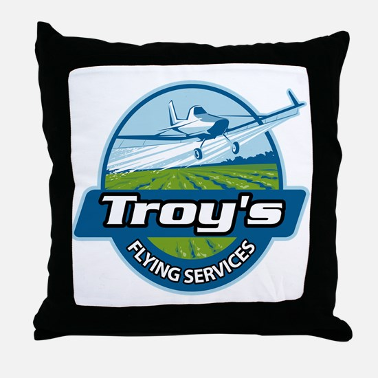 Troy's Flying Services Throw Pillow
