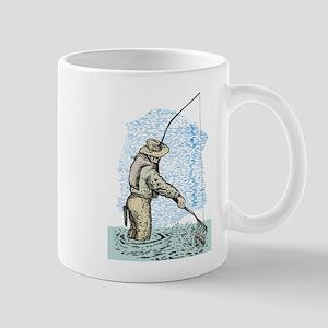 Fly fishing trout Mug