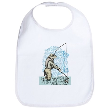 Fly fishing trout Bib