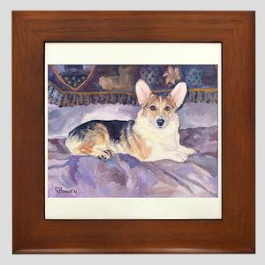 Sweet Marcy Corgi Framed Tile