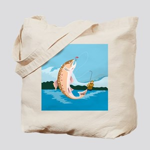 fly fishing trout Tote Bag