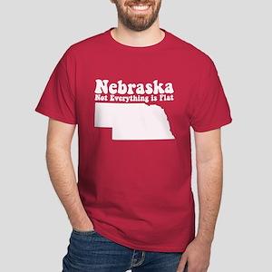 Nebraska Flat Dark T-Shirt
