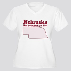 d8b1895a5 Not Everything Is Flat Nebraska Women's Plus Size T-Shirts - CafePress