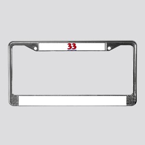 33 years never looked so good License Plate Frame