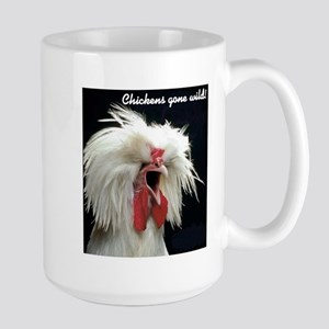 """Chickens Gone Wild 2"" Large Mug"