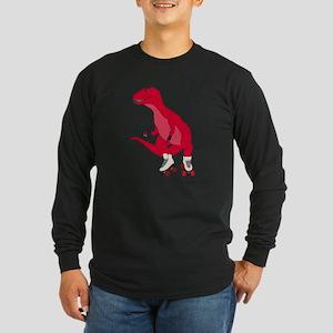 Tyrollersaurus t rex Long Sleeve T-Shirt