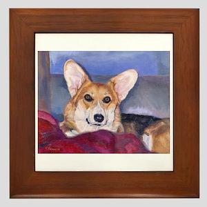Precious Amy Corgi Framed Tile