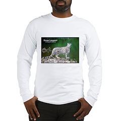 Snow Leopard Photo (Front) Long Sleeve T-Shirt