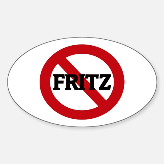 Anti-Fritz Oval Decal