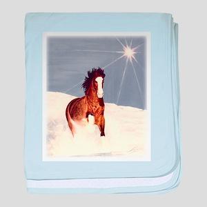 Starlight Snow Run baby blanket