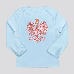 Polish Eagle Outlined In Red Long Sleeve Infant T-