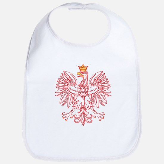 Polish Eagle Outlined In Red Bib