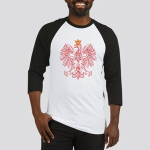 Polish Eagle Outlined In Red Baseball Jersey