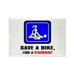 """""""Save a bike..."""" Rectangle Magnet (10 pack)"""