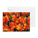 Orange Tulips Horizontal Greeting Card