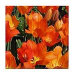 Orange Tulips Tile Coaster