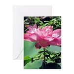 Pink Lotus Vertical Greeting Card