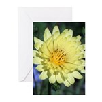 Yellow Wildflower Vertical Greeting Cards (10)