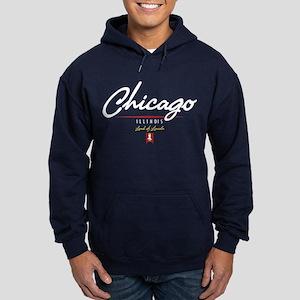 Chicago Script Hoodie (dark)