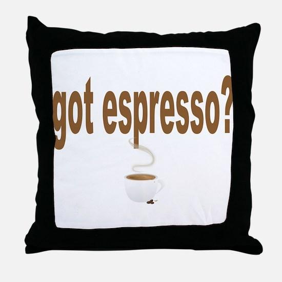 got espresso Throw Pillow
