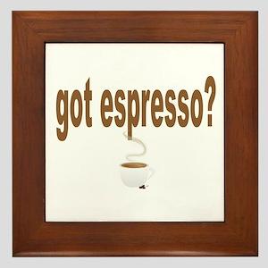 got espresso Framed Tile