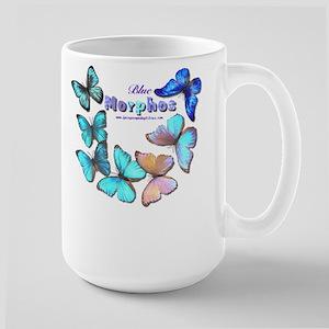 Blue Morphos Large Mug