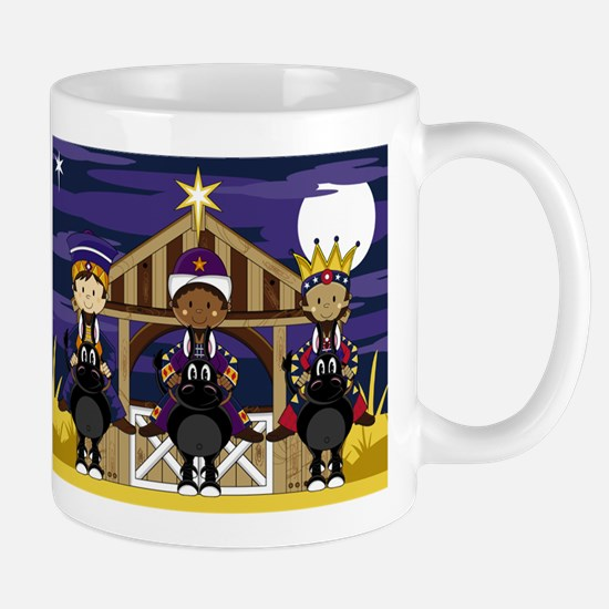 Cute Three Kings Nativity Christmas Coffee Mug