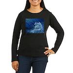 Star Lion Women's Long Sleeve Dark T-Shirt