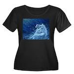 Star Lion Women's Plus Size Scoop Neck Dark T-Shir