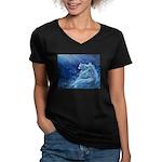 Star Lion Women's V-Neck Dark T-Shirt