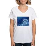 Star Lion Women's V-Neck T-Shirt