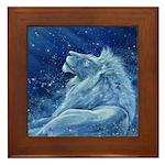Star Lion Framed Tile