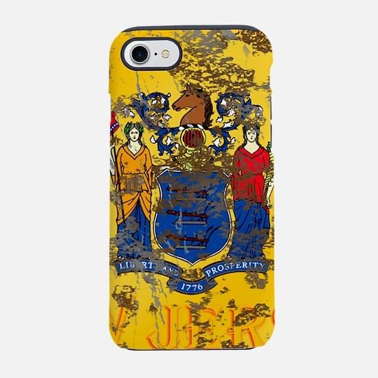 New Jersey Grunge Flag iPhone 7 Tough Case